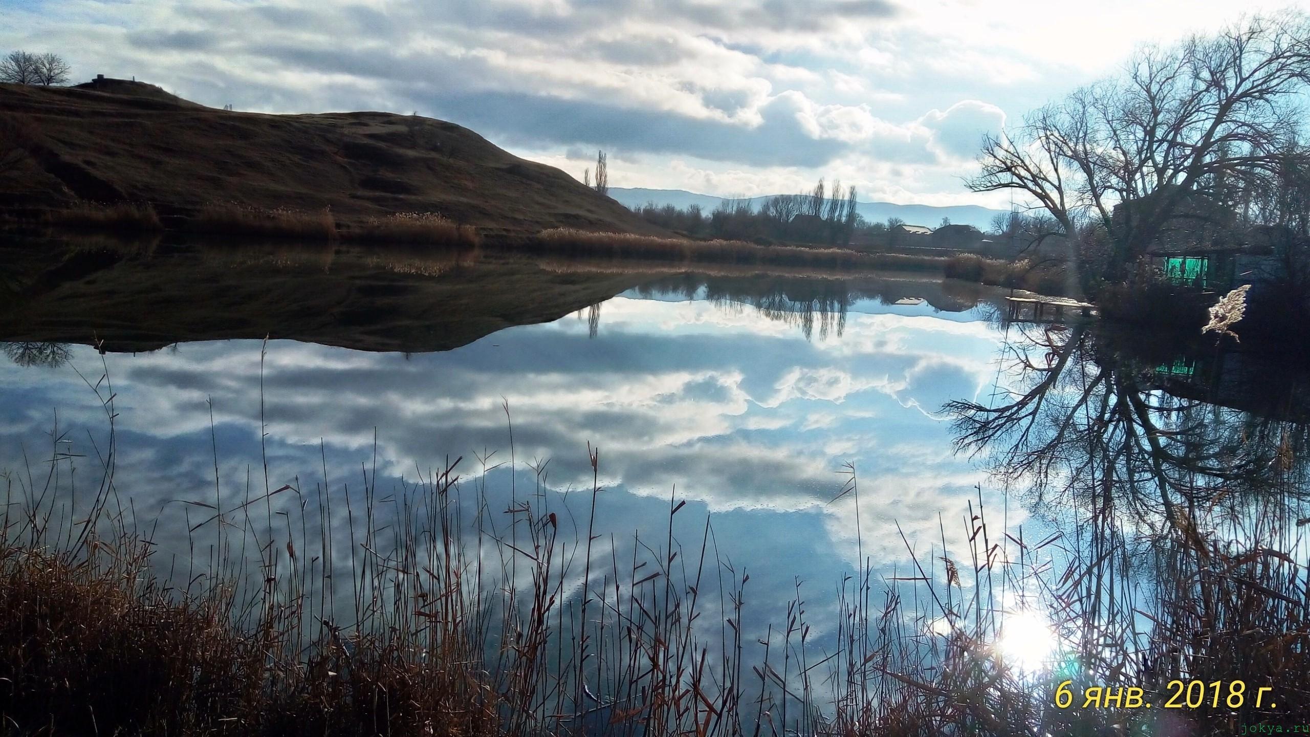 Моя рыбалка в селе Чернополья 6 января 2018 года фото заметка из моей реальности в Крыму jokya.ru