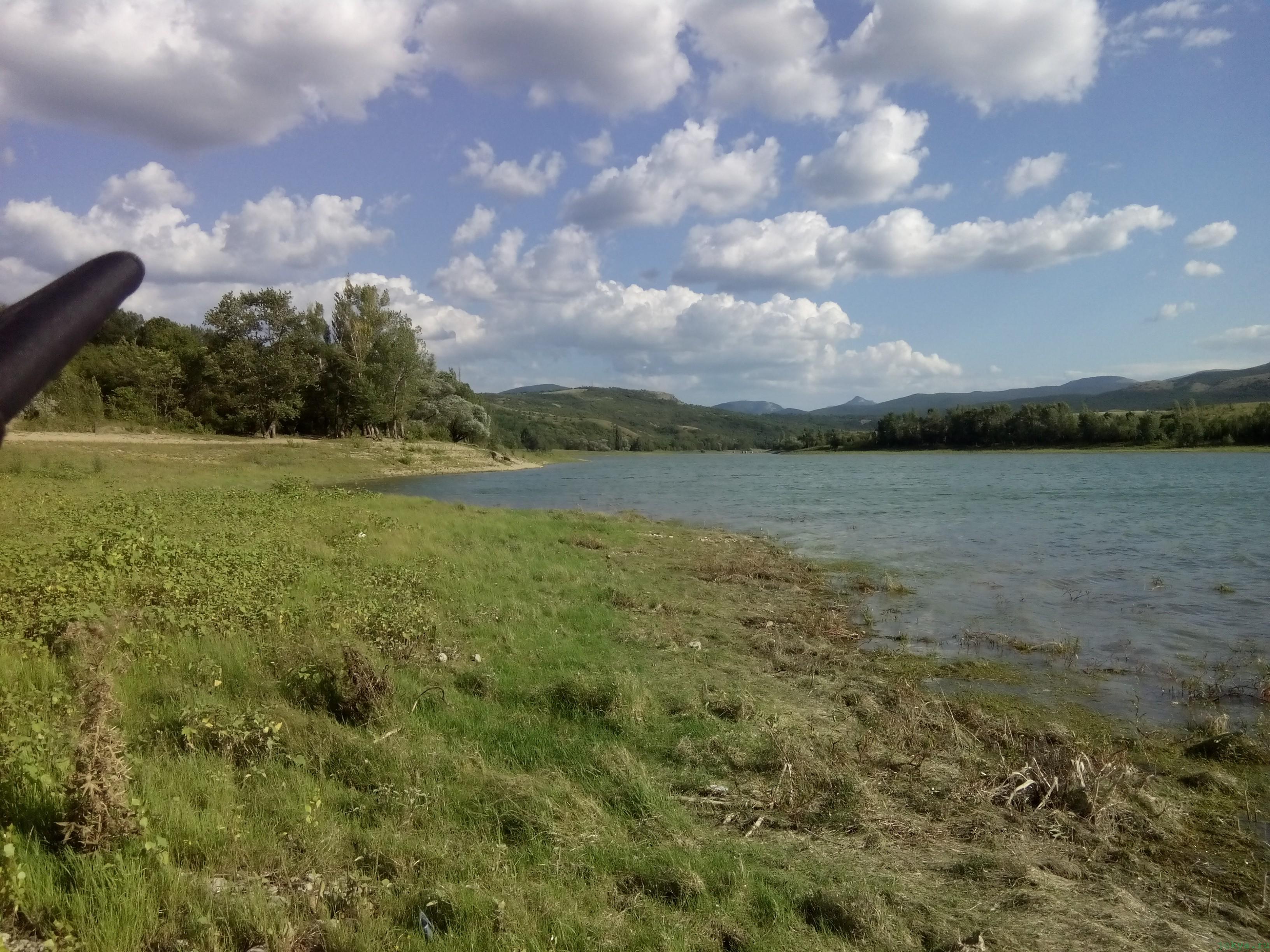 Уровень воды Белогорского водохранилища на 22.07.2016 года фото заметка о Крыме jokya.ru