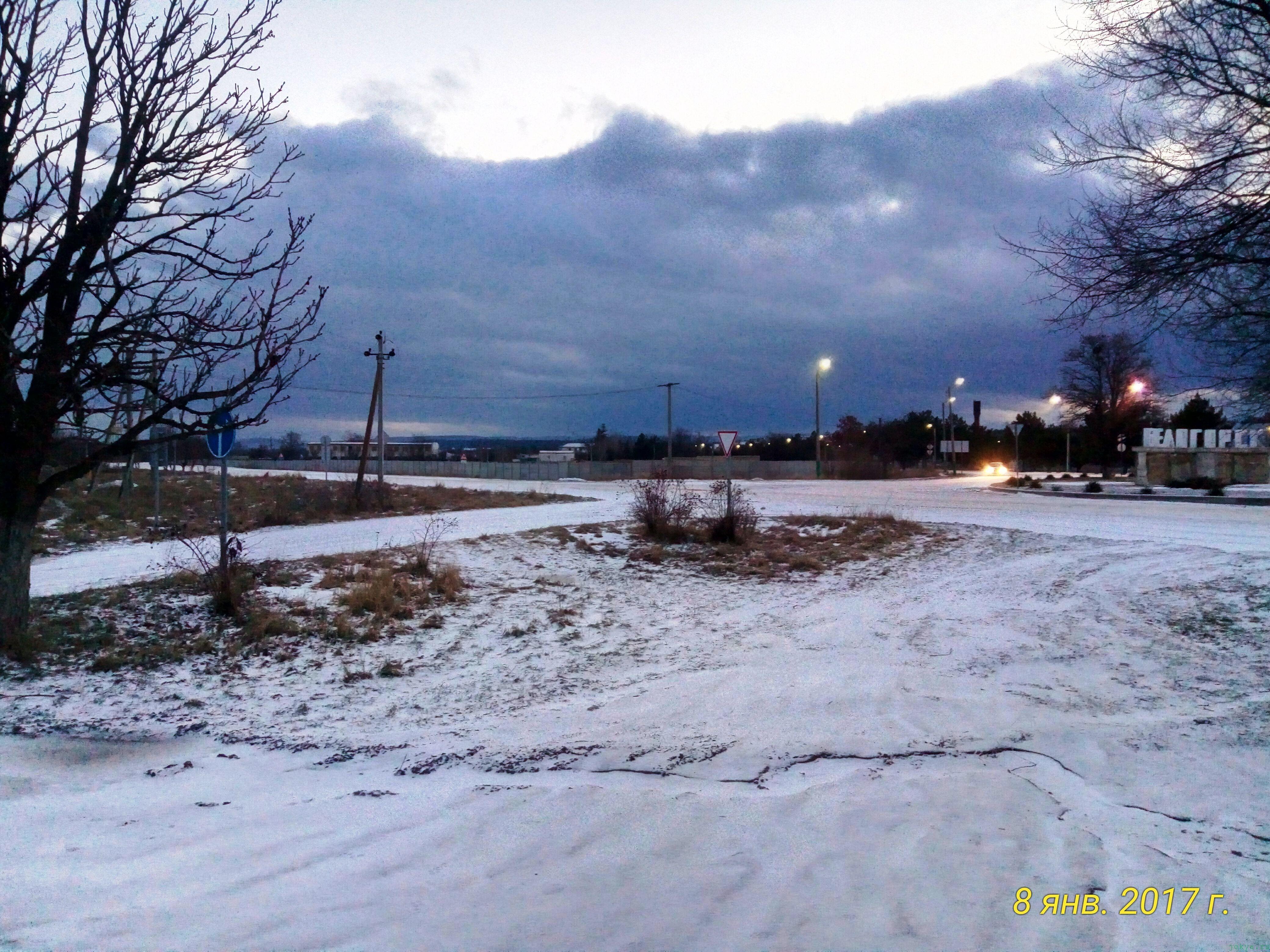 Утро сегодня в Белогорске: циклон над городом фото заметка из моей реальности в Крыму jokya.ru