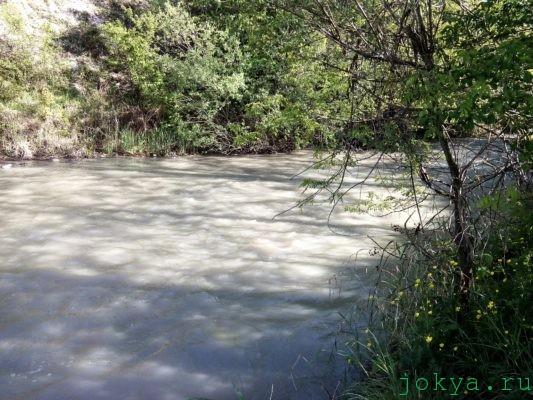 Вечер после ливня на реке Биюк-карасу фото заметки о Крыме jokya.ru