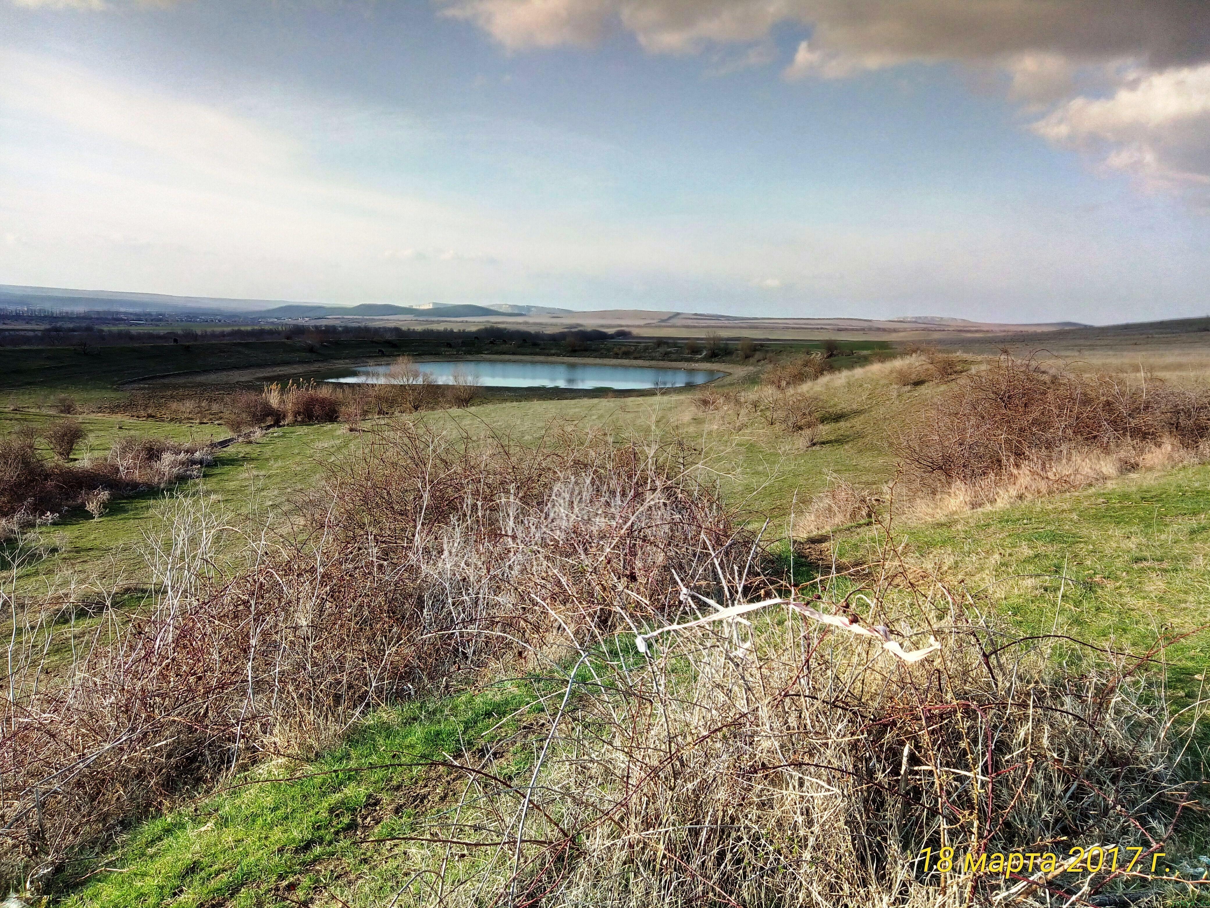 Весенний водоем пруд «Киличек» в марте фото заметка о моей реальности в Крыму