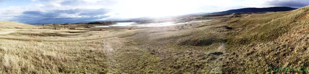 Залив на Белогорском водохранилище в феврале фото заметка о Крыме jokya.ru